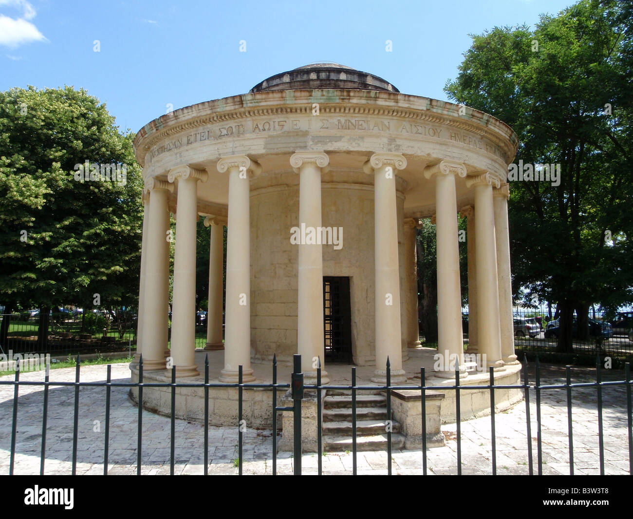 The Rotunda commemorates High Commissioner Sir Thomas Maitland in southern end of the Esplanade in Corfu Town ,Greece. - Stock Image