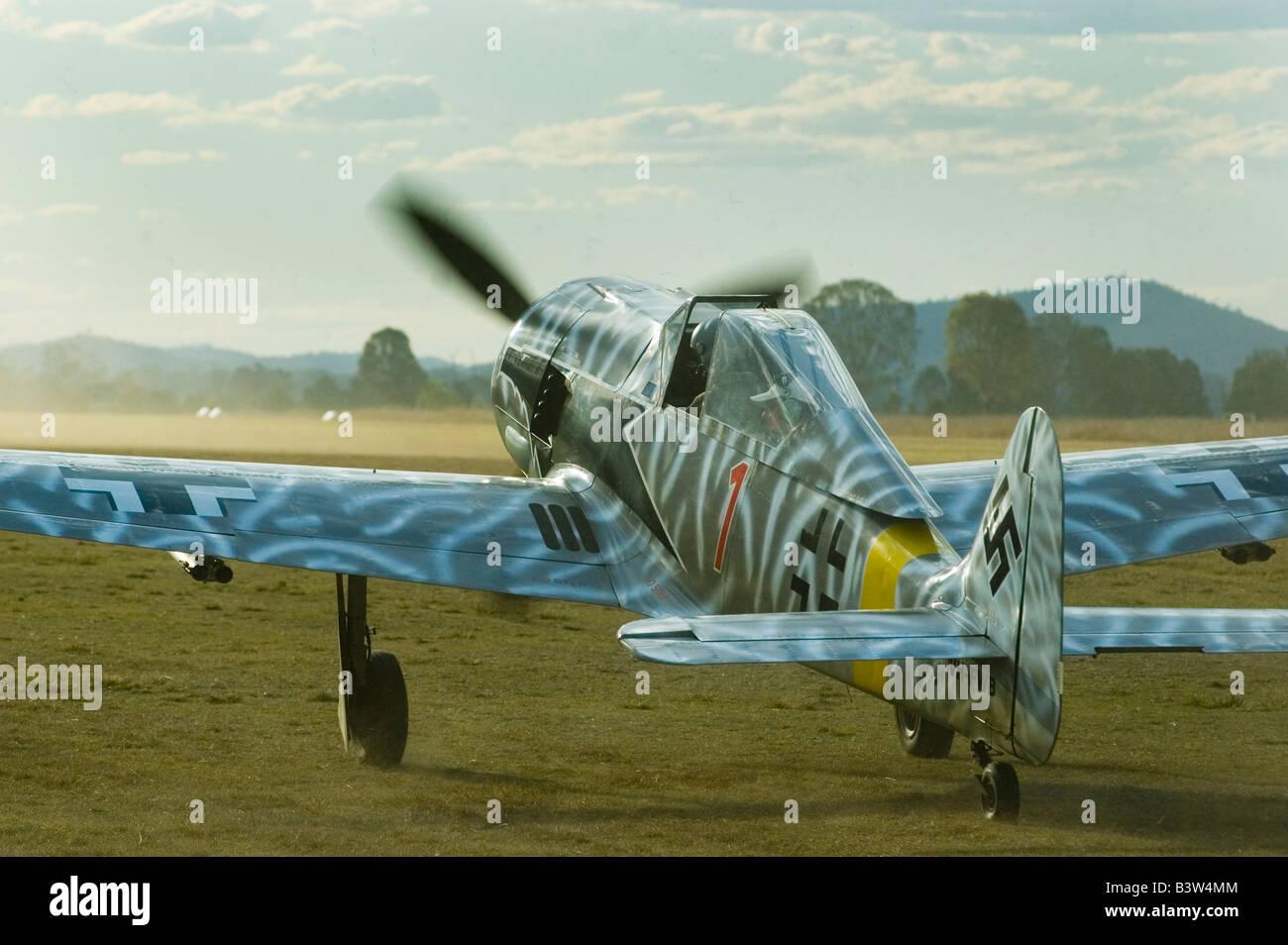 FW 190 Luftwaffe Focke Wulf Wolf 1/2 scale replica - Stock Image