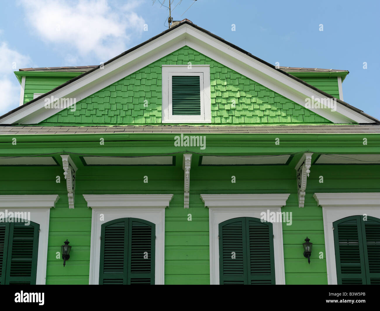 USA,Louisiana,New Orleans,French Quarter,French Quarter Creole cottage - Stock Image