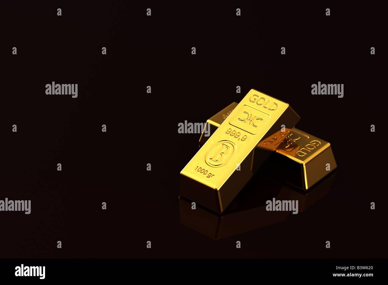 Gold bullions - Stock Image