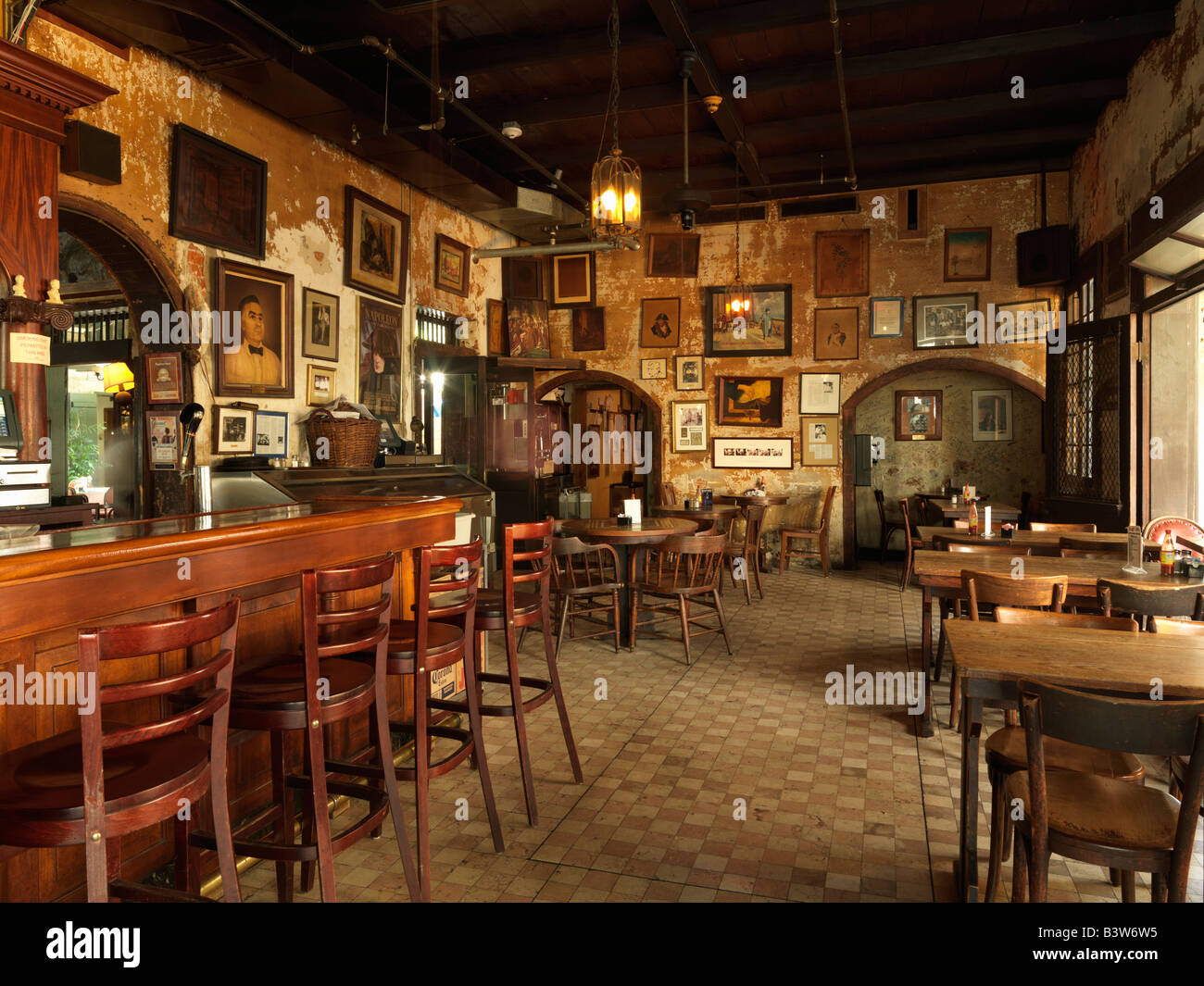 USA,Louisiana,New Orleans,French Quarter,Napoleon House a famous French Quarter bar and restaurant - Stock Image