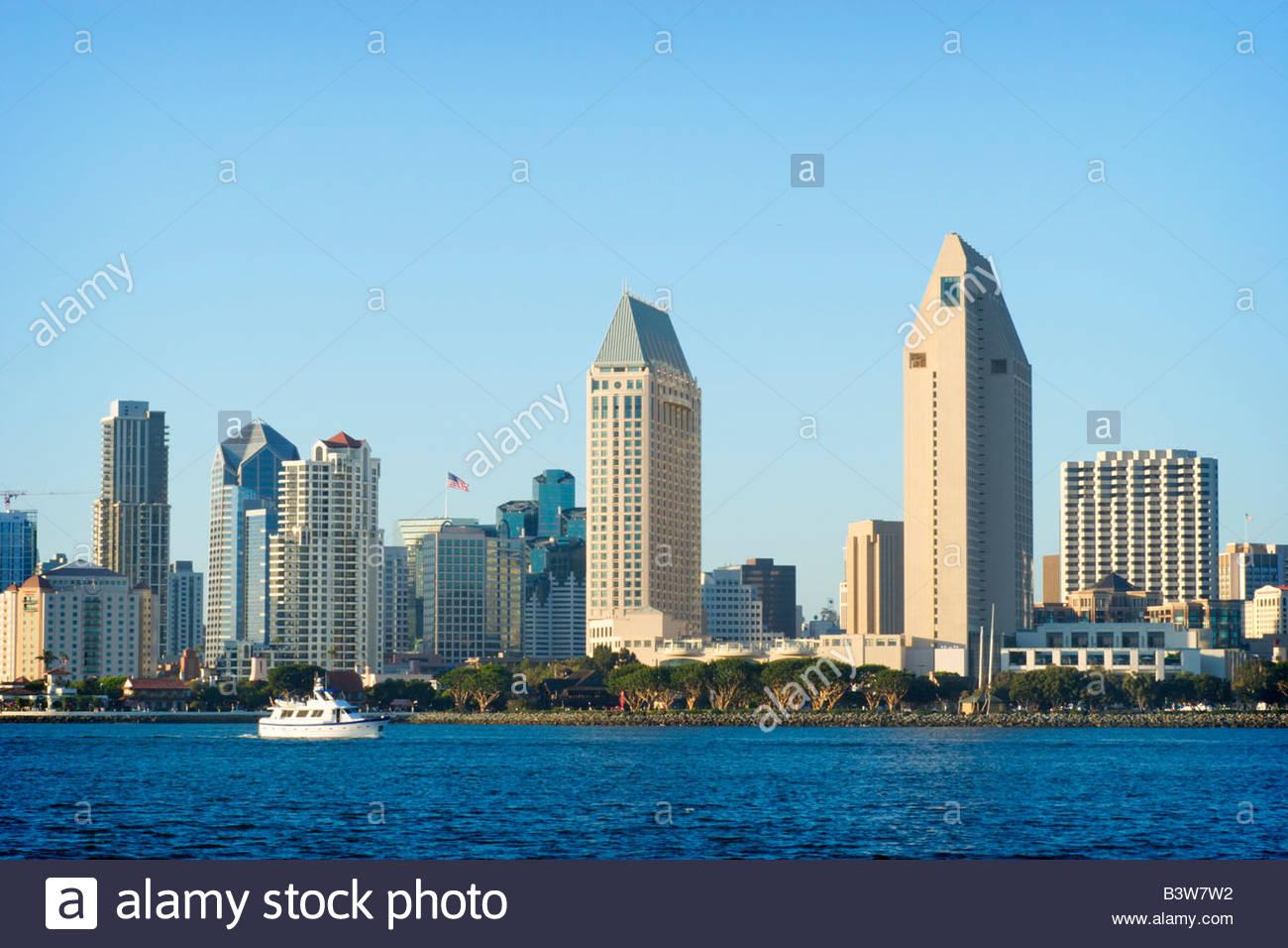 Downtown San Diego Skyscrapers Coronado Island California