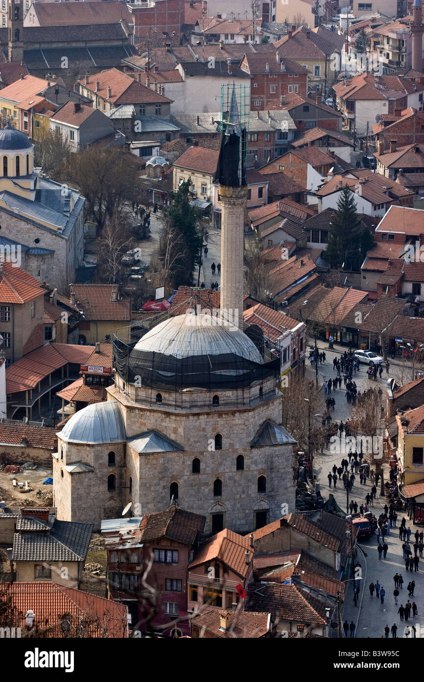 16th century Sinan Pasha mosque during renovation , Prizren, Kosovo. - Stock Image