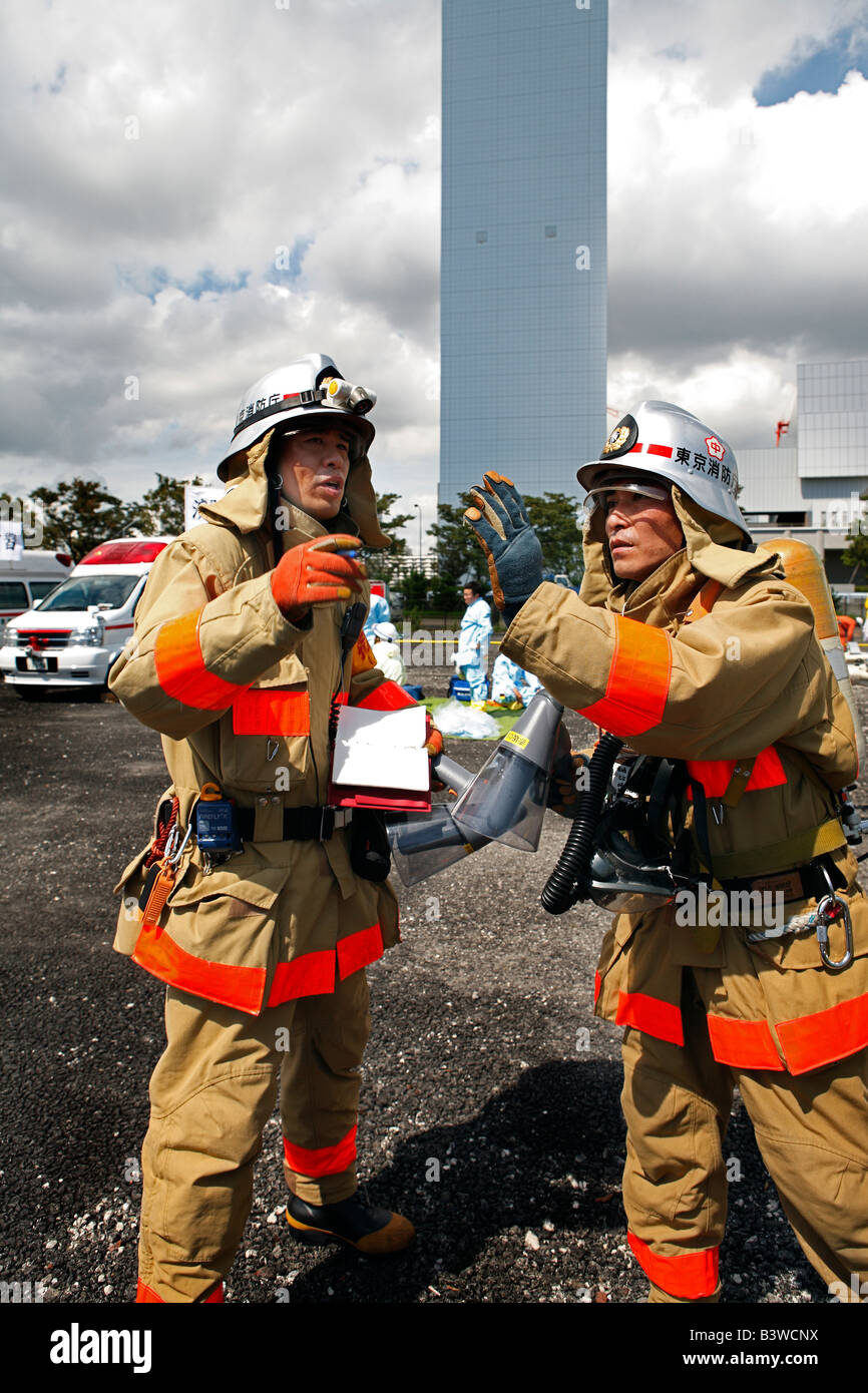 Fire Fighters Stock Photo