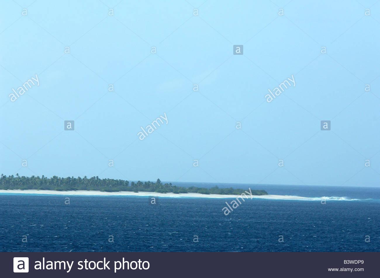 South Pacific, nation of Tuvalu, Kiribati, Christmas Island. Largest ...