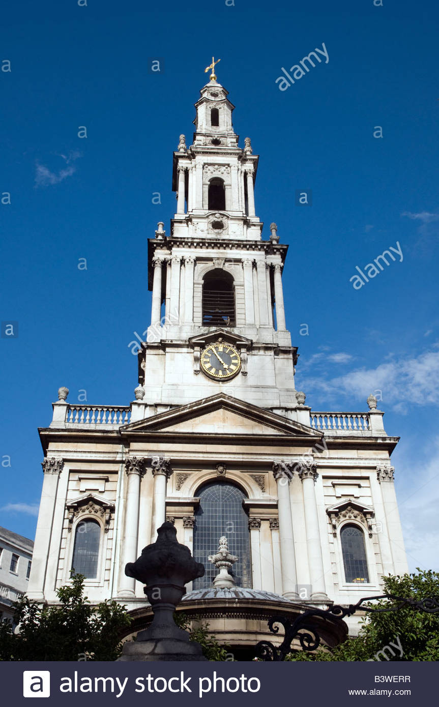 St Mary-le-Strand church in the Strand, London England UK - Stock Image