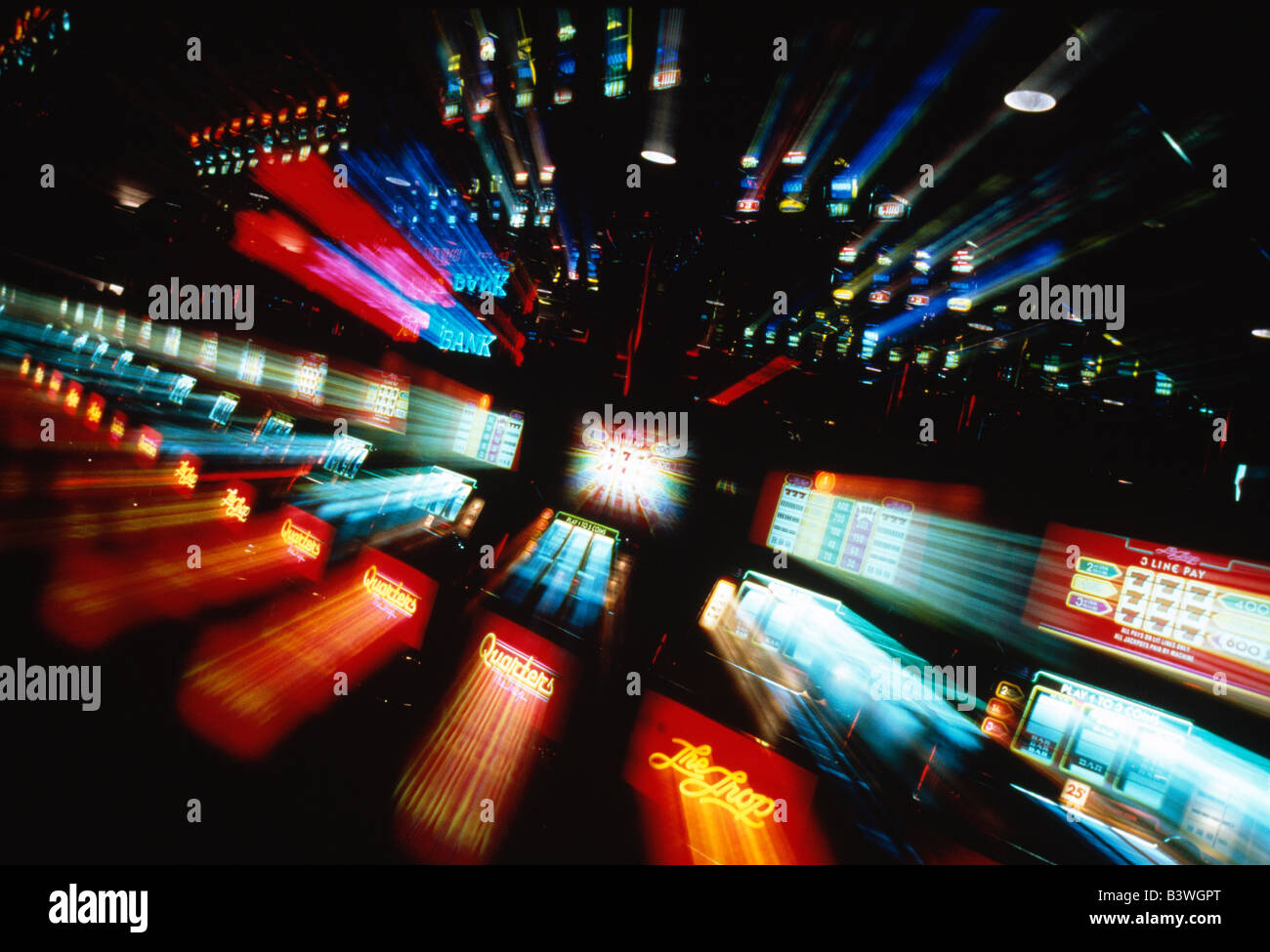 Game rooms in Atlantic City, New Jersey, casino - Stock Image