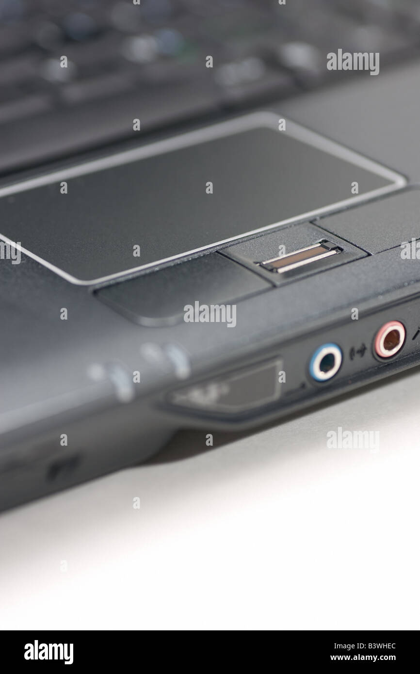 Notebook touchpad and Fingerprint reader. - Stock Image