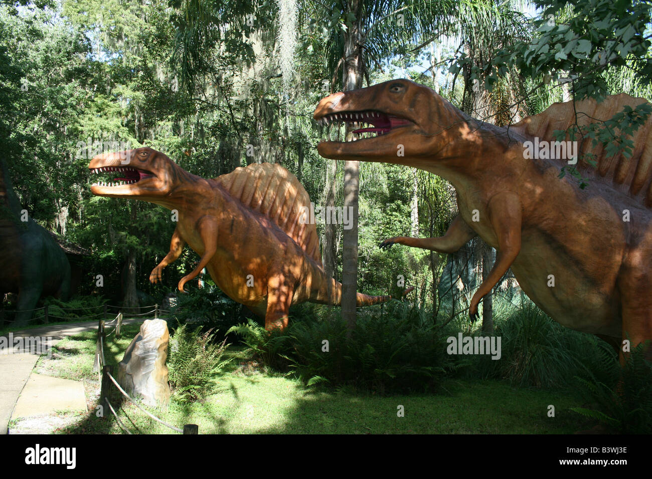 Spinosaurus dinosaur at Dinosaur World, Plant City, FL. - Stock Image