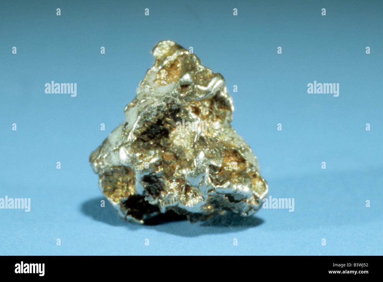 Native Platinum, nugget, studio picture - Stock Image