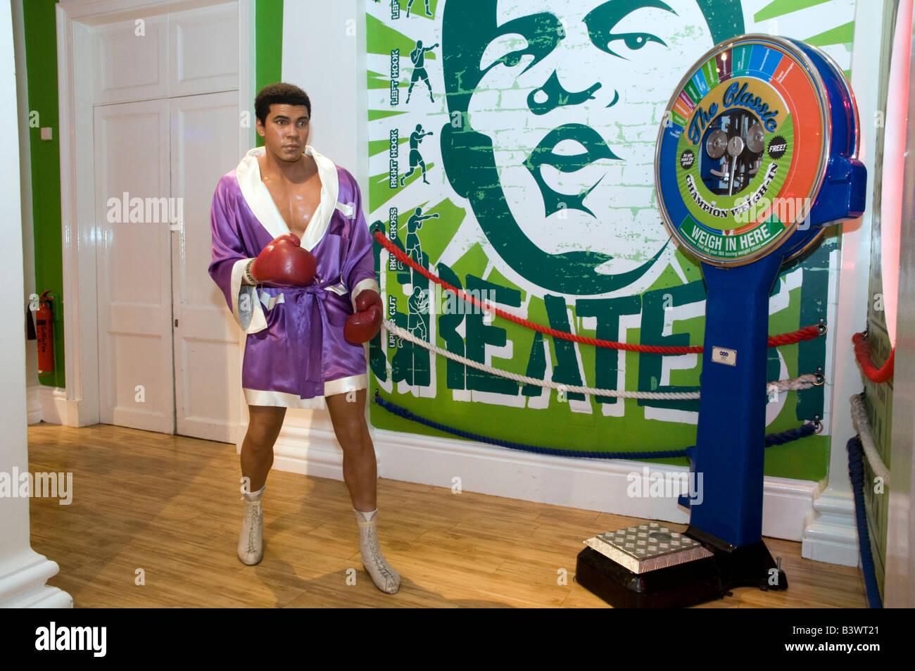 Waxwork model of Muhammad Ali at Madame Tussauds London, UK - Stock Image