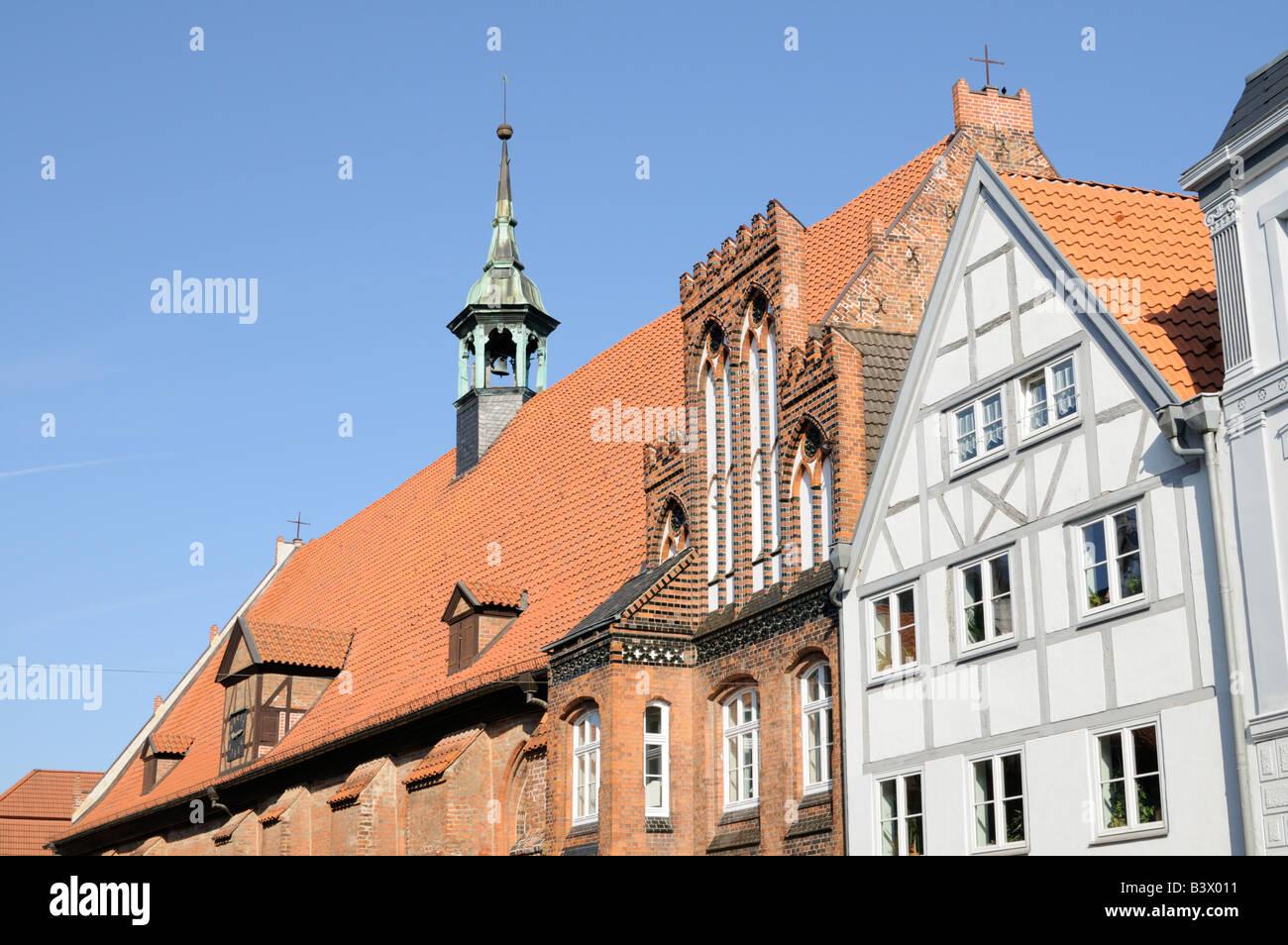 Heiligen Geist Kirche in Wismar Deutschland Holy Ghost Church in Wismar Germany - Stock Image