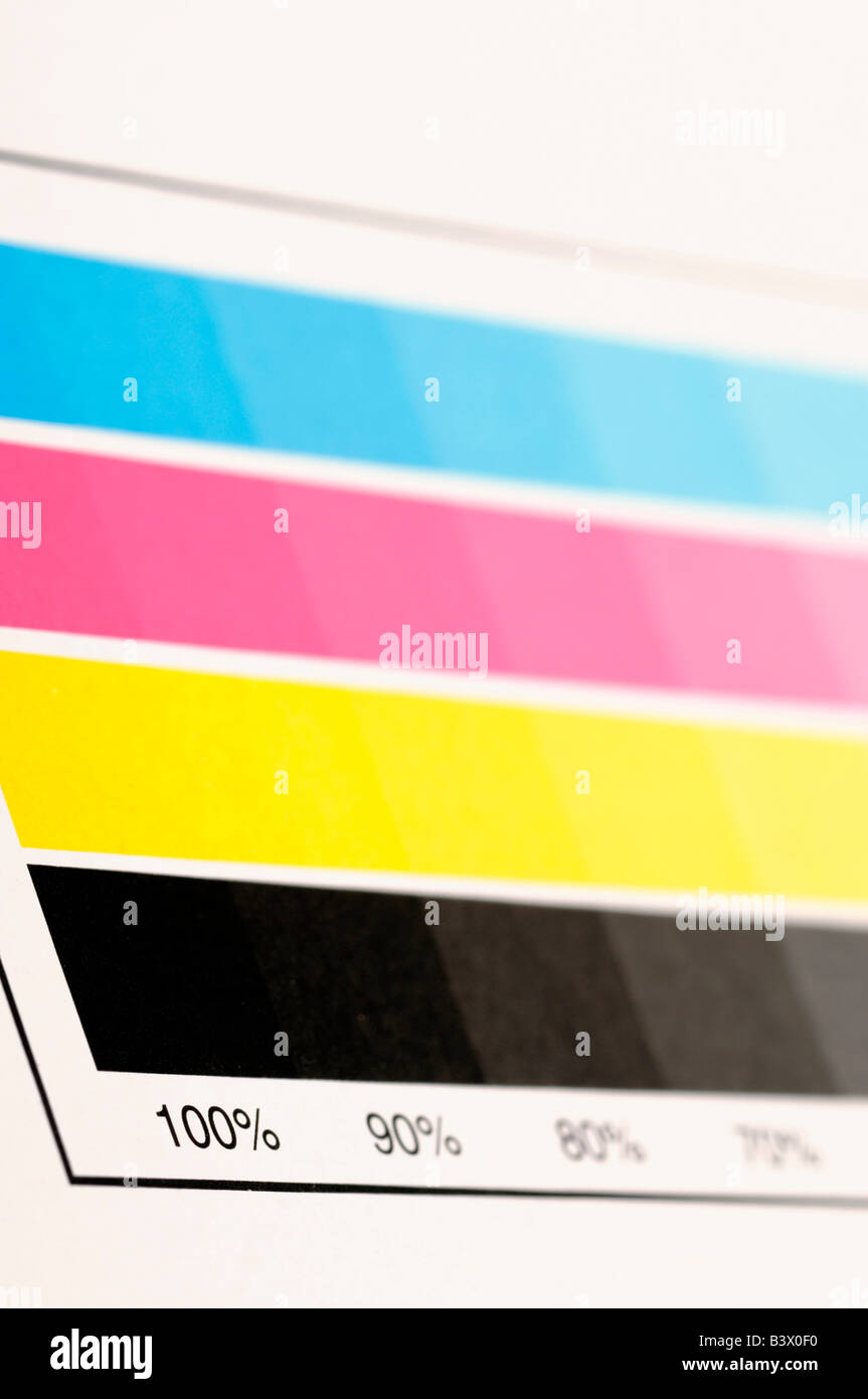 CMYK colour swatch - Stock Image