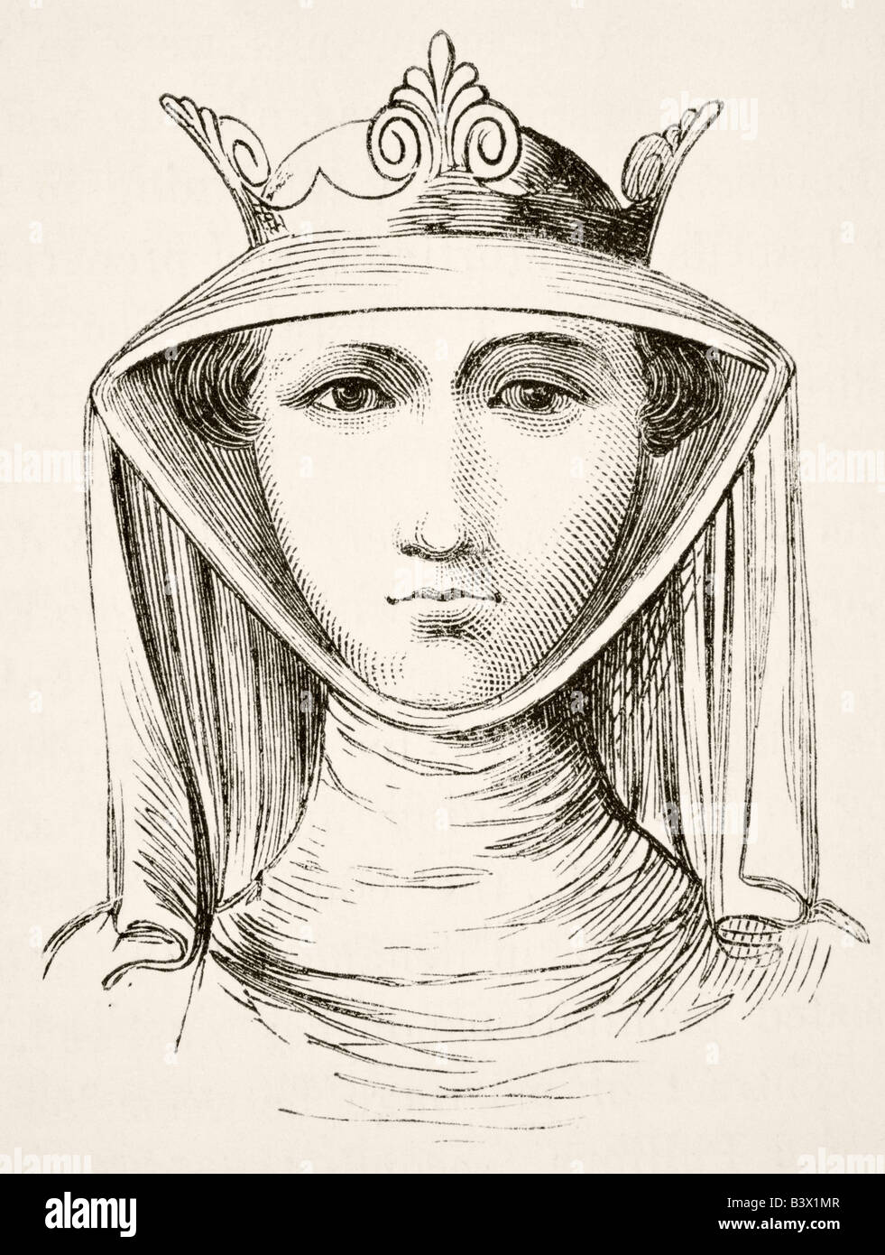 Isabella of France circa 1295 to 1358, known as the She Wolf of France. - Stock Image