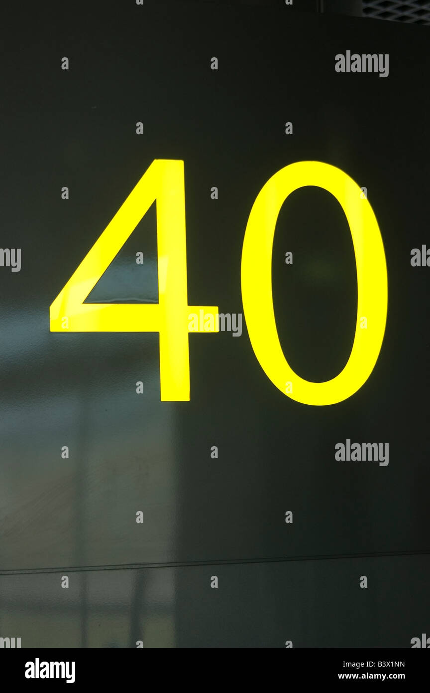 Number 40 - Stock Image