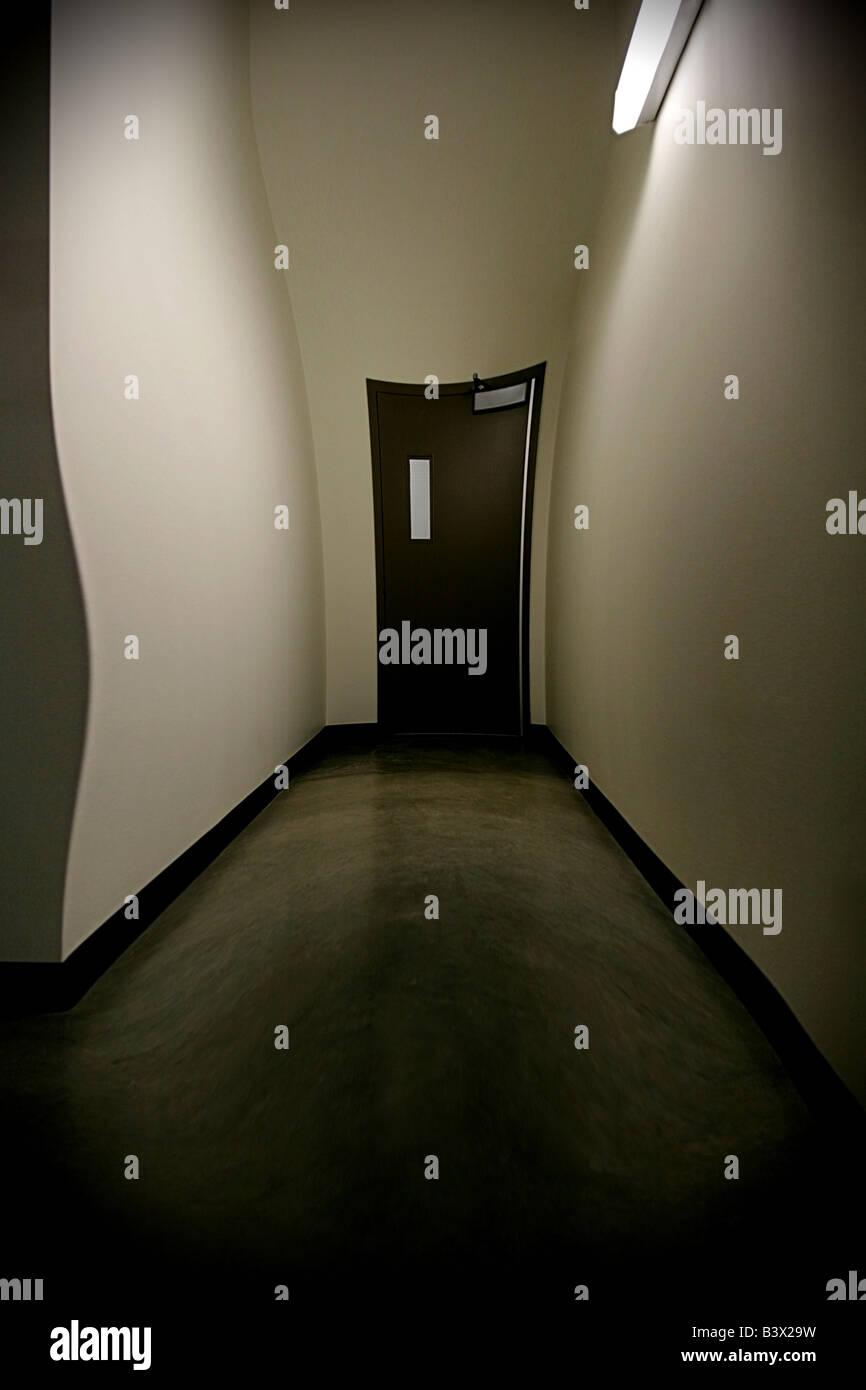 Warped hallway - Stock Image