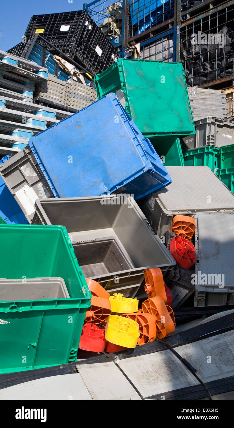 Plastics Recycling - Stock Image