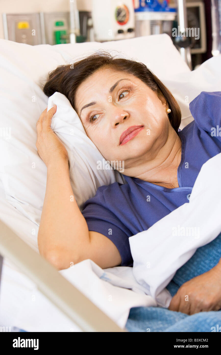 sick woman in hospital bed stock photos amp sick woman in