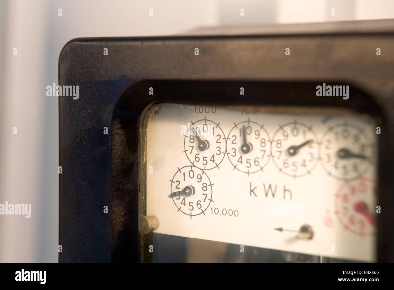 Electric Meter - Stock Image