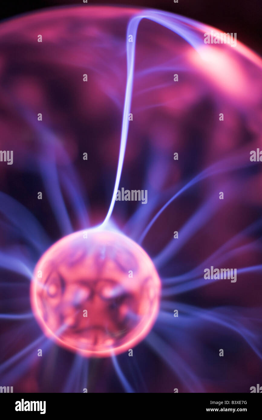 Close Up Of Plasma Ball - Stock Image