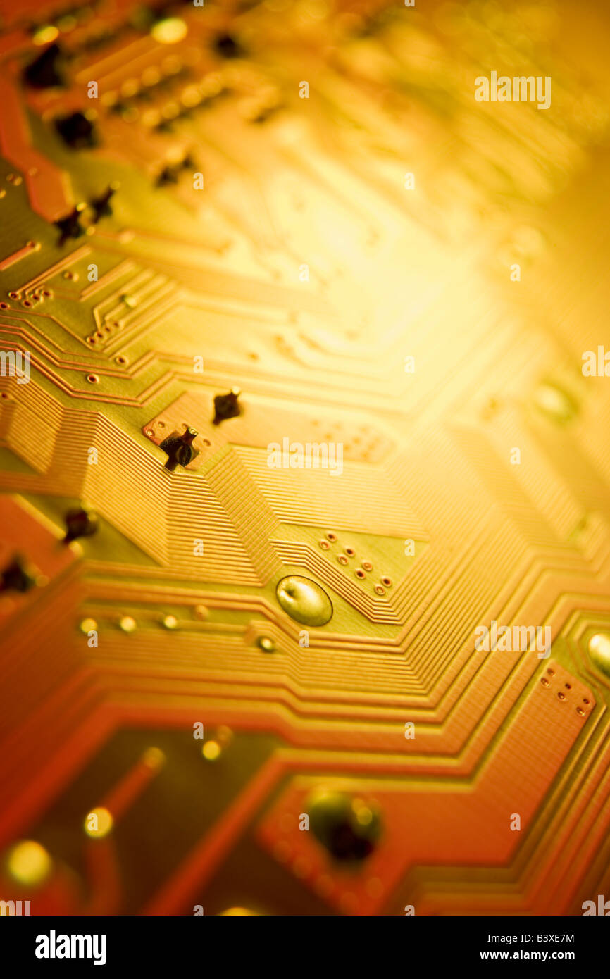 Gold Circuit Board Stock Photos Images In Boards Close Up Of Image