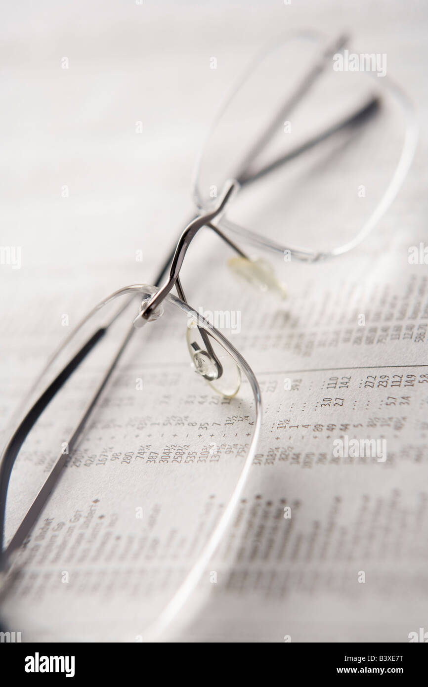 Pair Of Reading Glasses - Stock Image