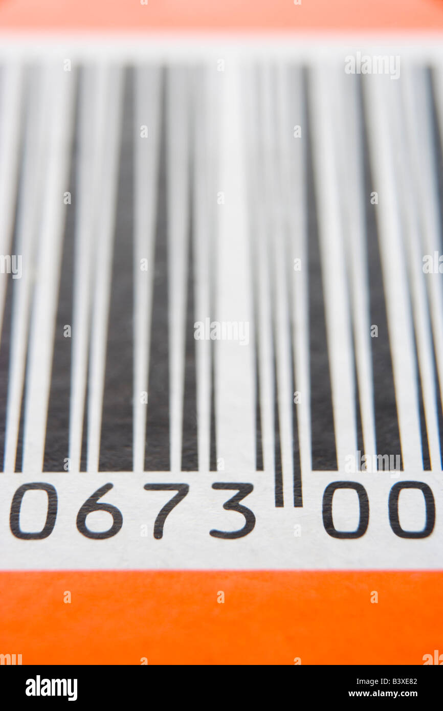 Close-Up Of Barcode - Stock Image