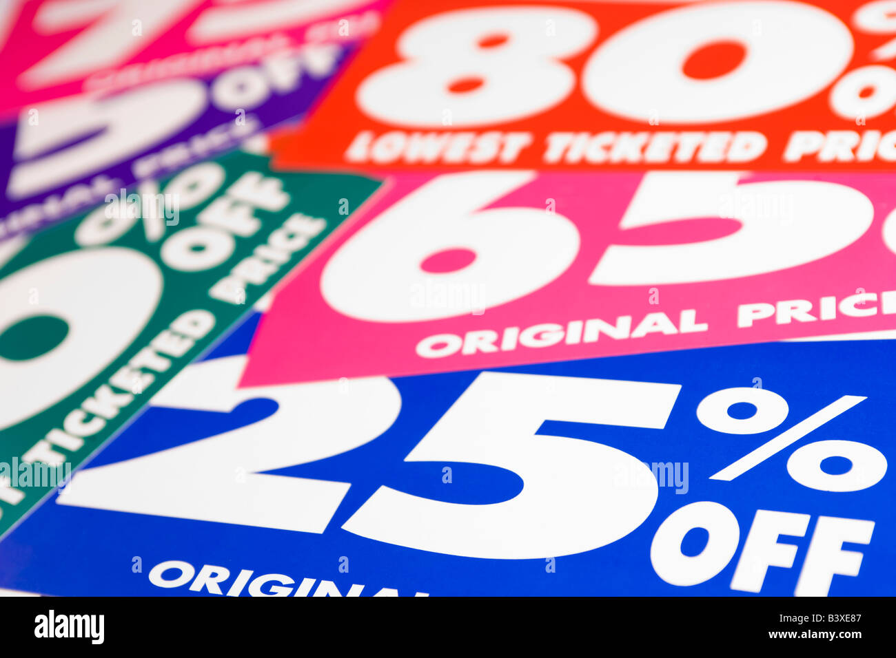 Sales Prices - Stock Image
