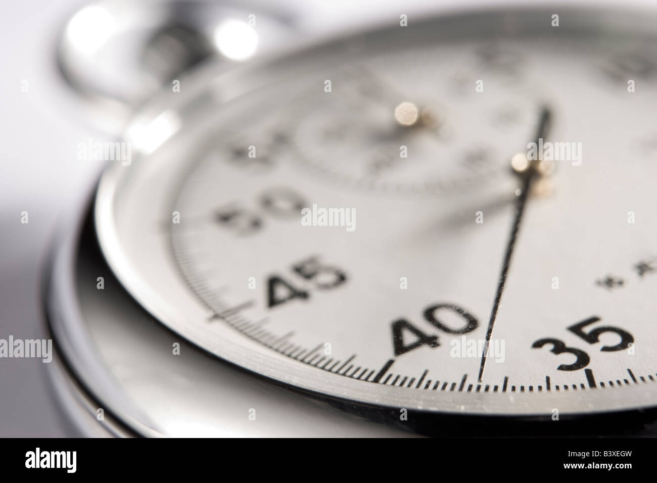 Close-Up Of Stop Watch - Stock Image