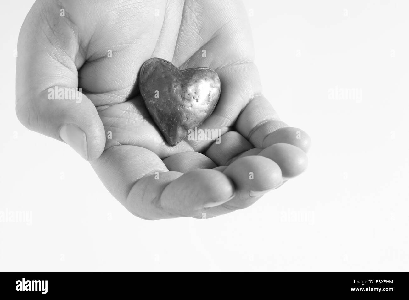 Heart In Hand - Stock Image