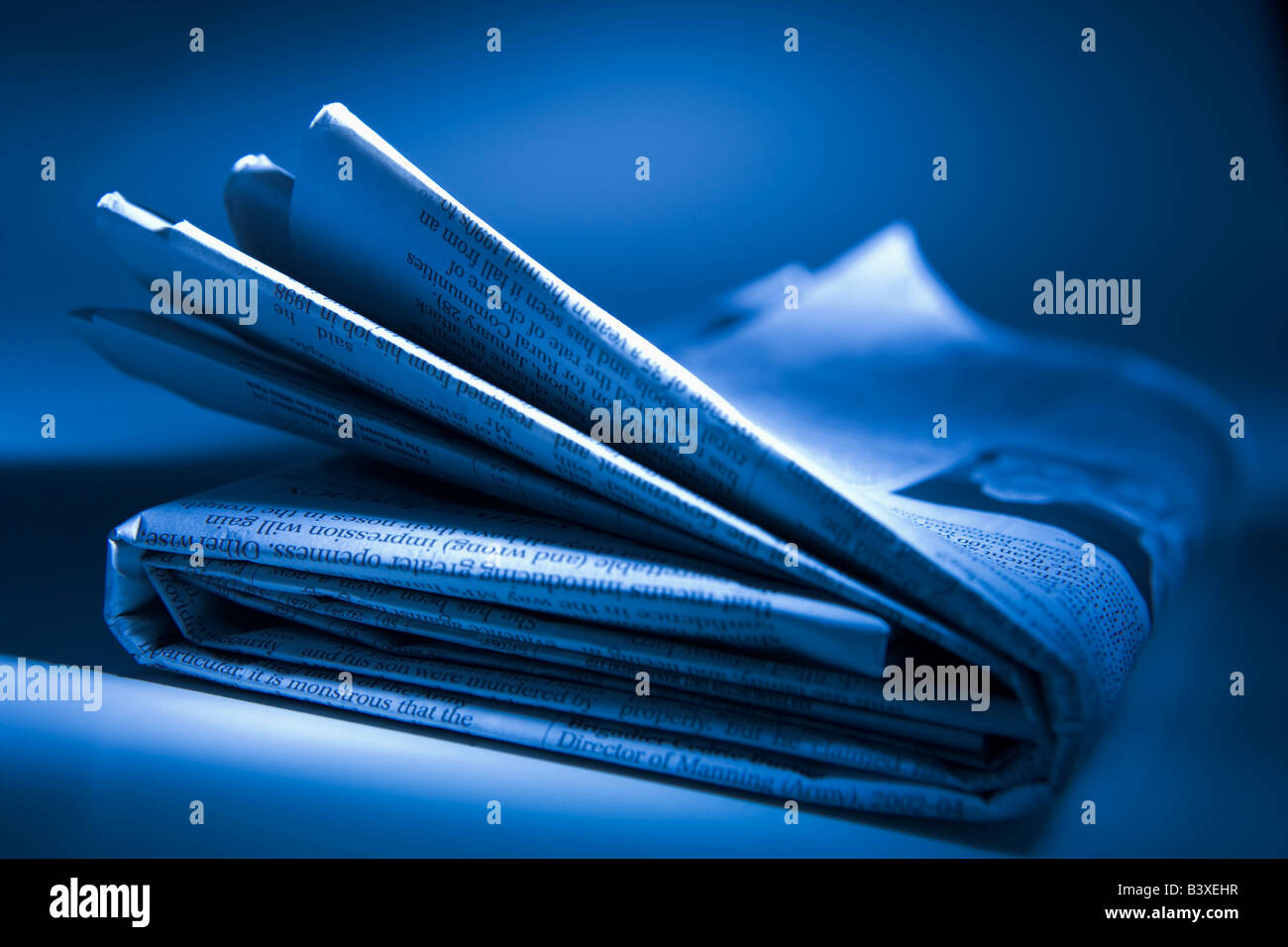Folded Newspaper - Stock Image