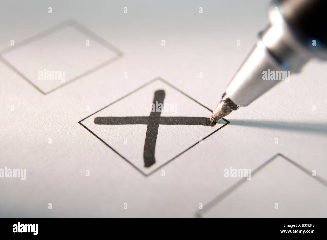 Marking A Tick Box - Stock Image