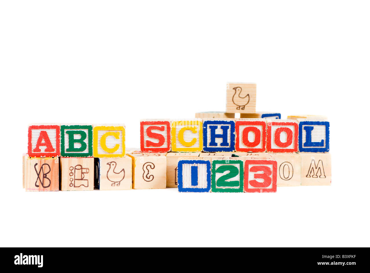 Wooden blocks spell out your future Education and School Stock Photo