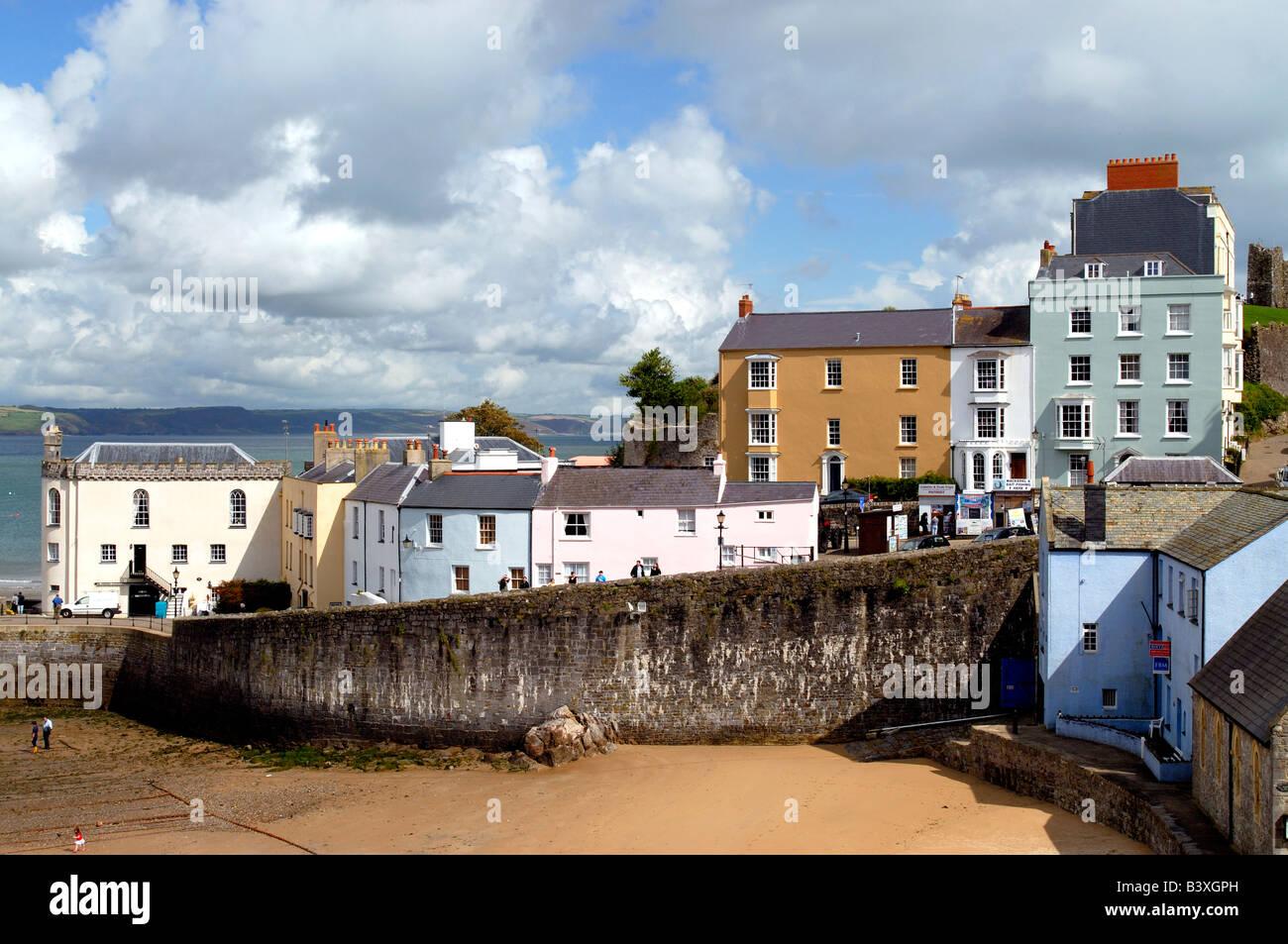 Tenby Harbour Pembrokeshire West Wales - Stock Image