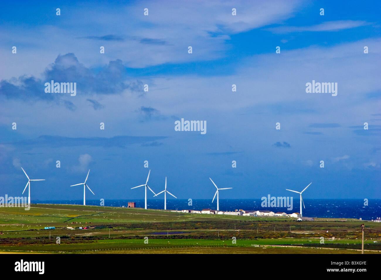 Wind farm near Dounreay Sutherland, Scotland UK 2008 - Stock Image