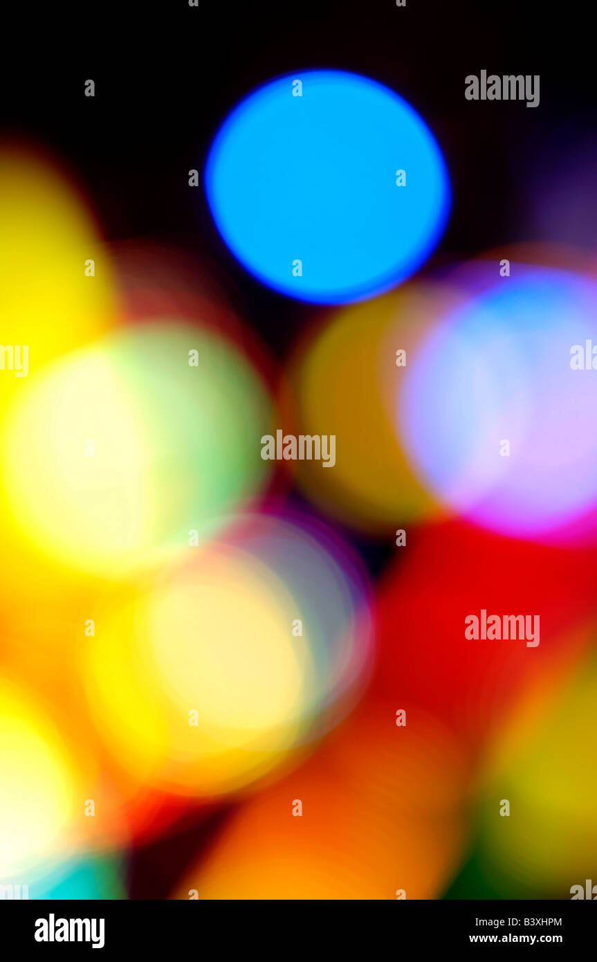 Abstract fairground lights - Stock Image