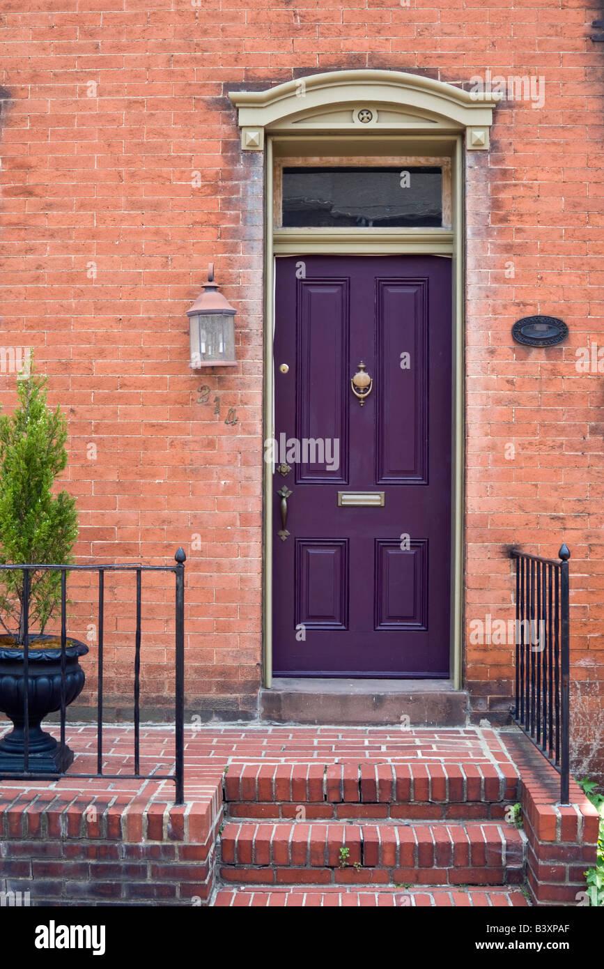 Purple Front Door Stock Photos Purple Front Door Stock Images Alamy