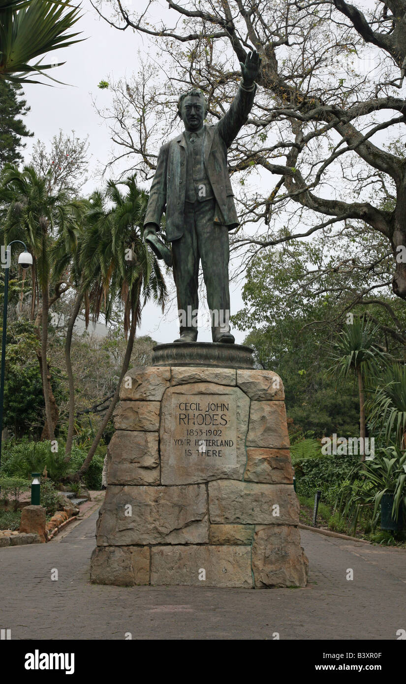 A statue of Cecil John Rhodes in the Company's Gardens Cape Town South Africa - Stock Image