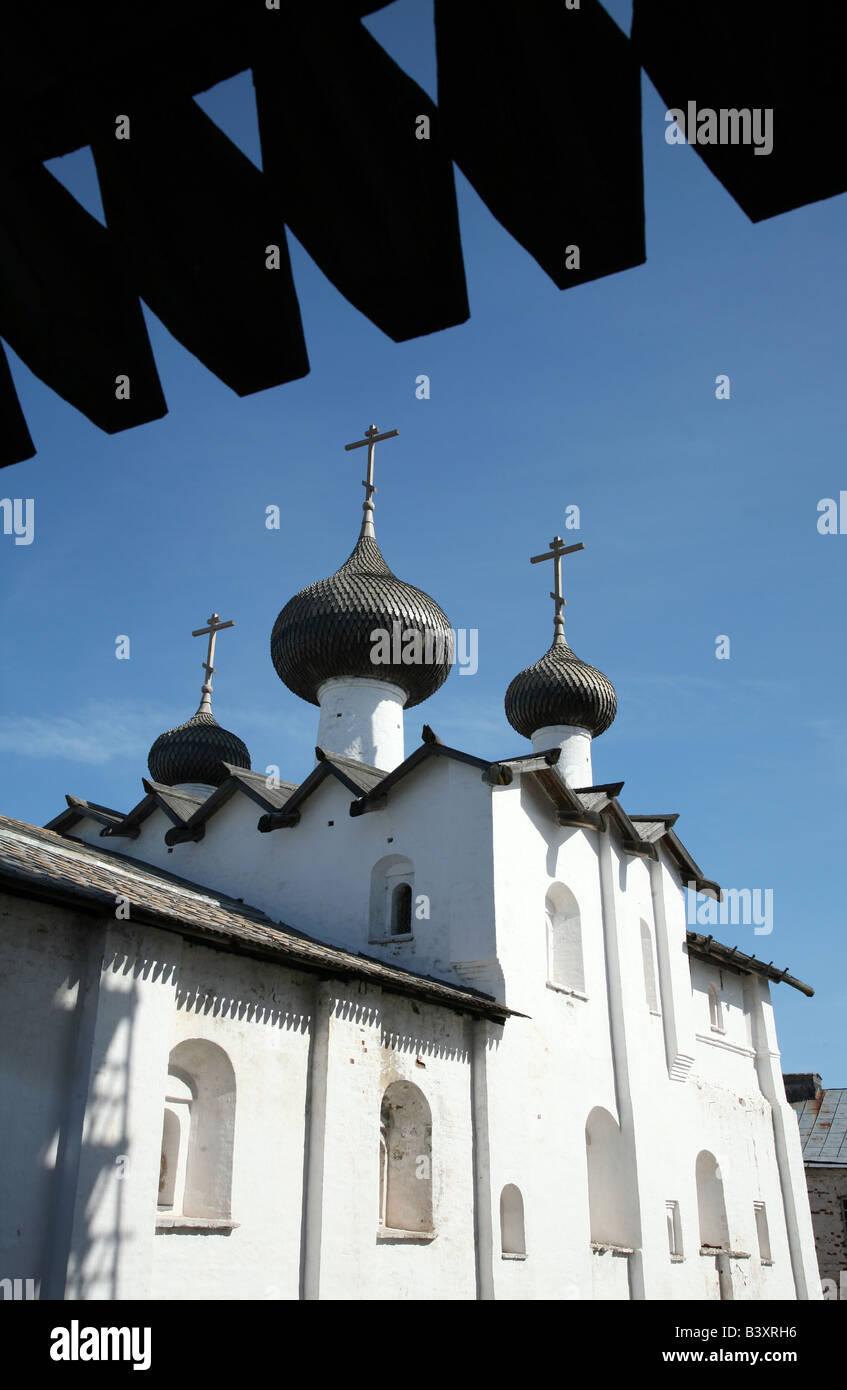 Dormition Church in the Solovetsky Monastery on the Solovetsky Islands in the White Sea, Russia Stock Photo