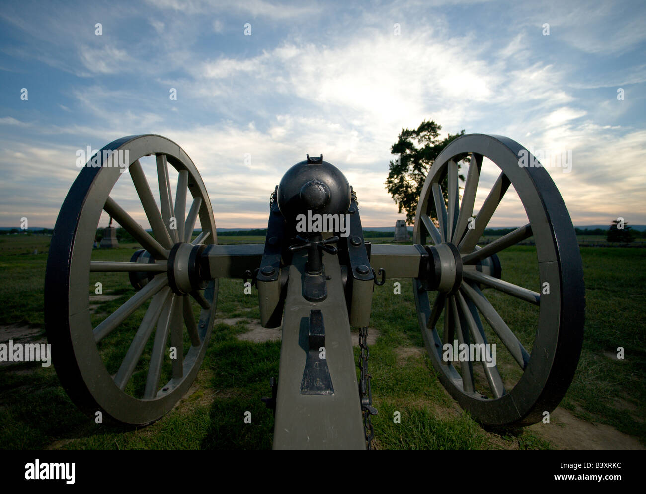 Cannon in Gettysburg National Military Park on May 25, 2008 in Gettysburg, PA. - Stock Image