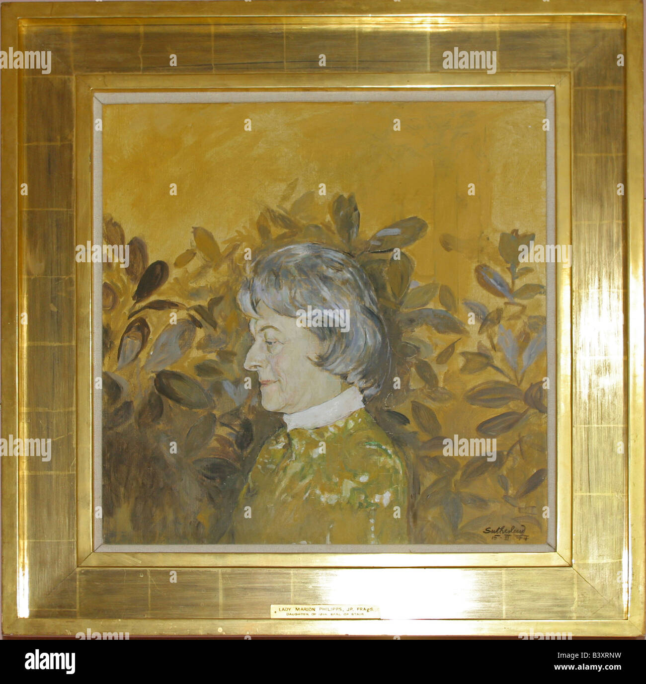 Oil painting in gold frame by Graham Sutherland, of Lady Marion ...