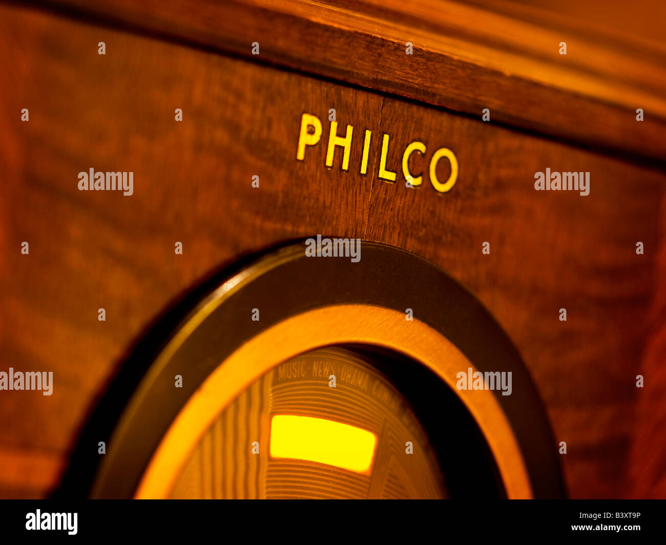 Old time Philco Radio - Stock Image