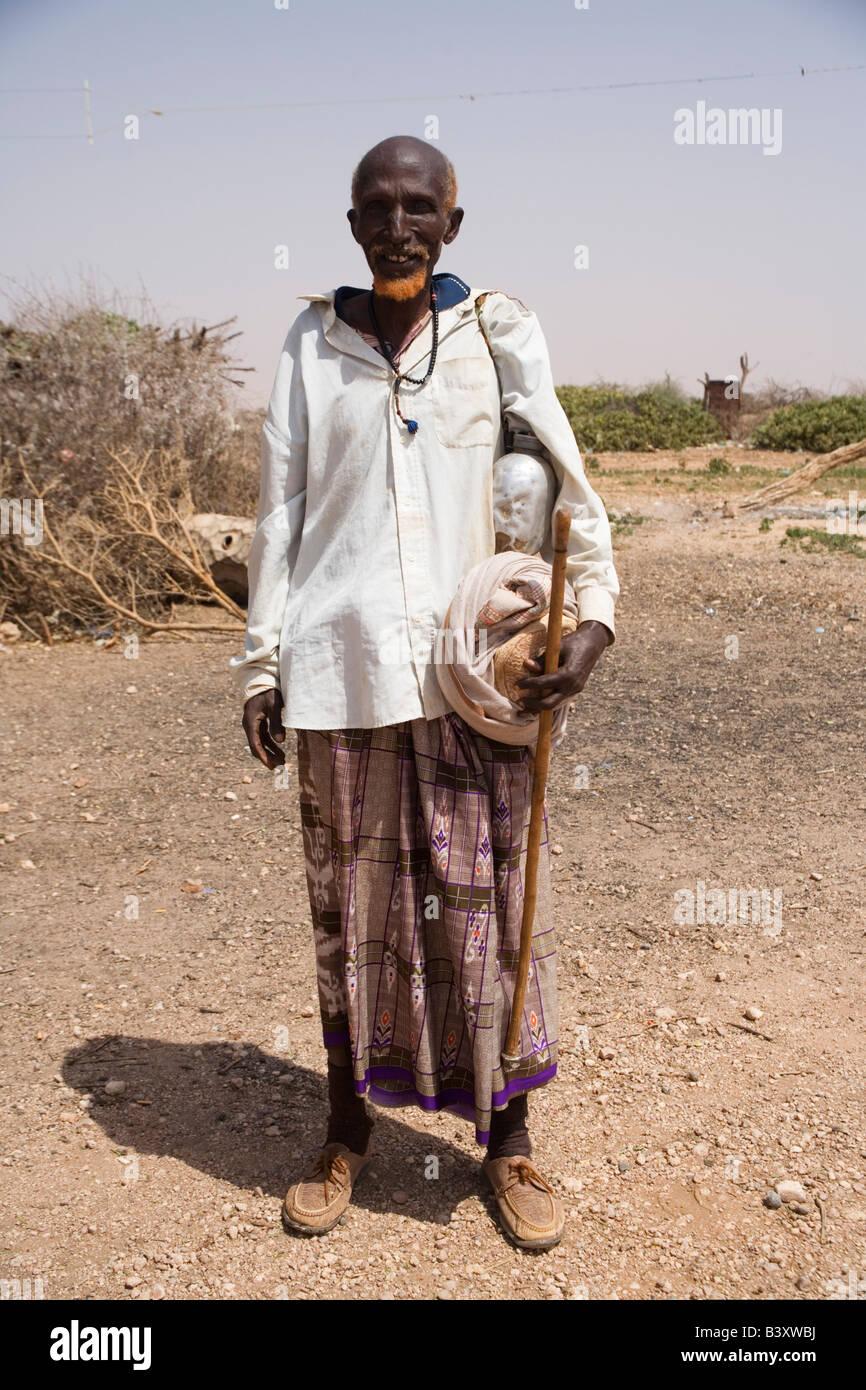 Old Somali Man With Henna On His Beard Stock Photo 19645014 Alamy