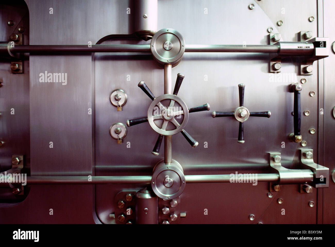 Bank vault - Stock Image
