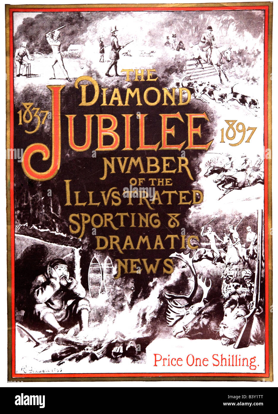 The Illustrated Sporting & Dramatic News Magazine Diamond Jubilee Edition 1897 FOR EDITORIAL USE ONLY - Stock Image
