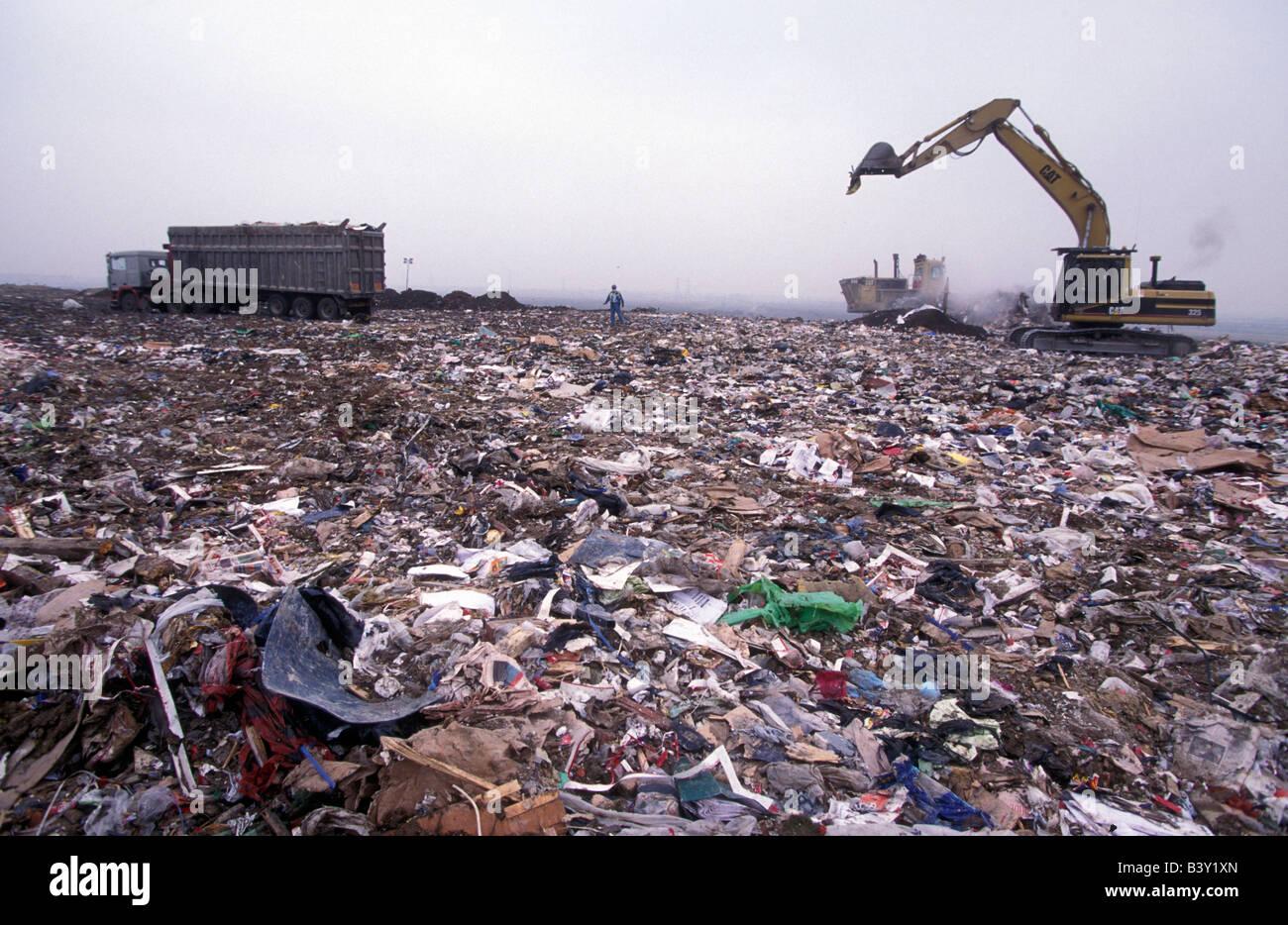 Landfill site, Essex UK - Stock Image
