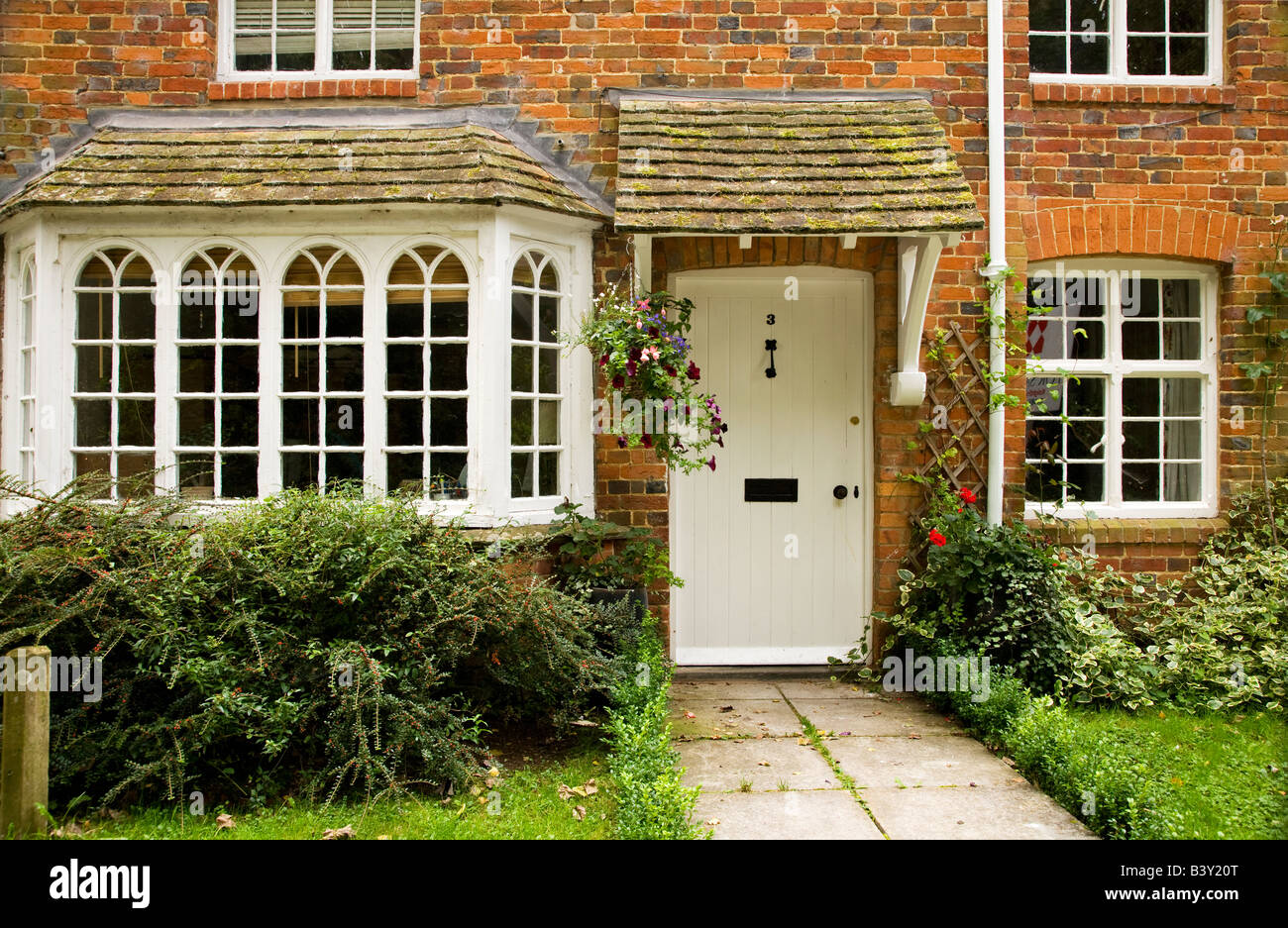 Typical English country house or cottage in Little Bedwyn,Wiltshire,England, UK - Stock Image