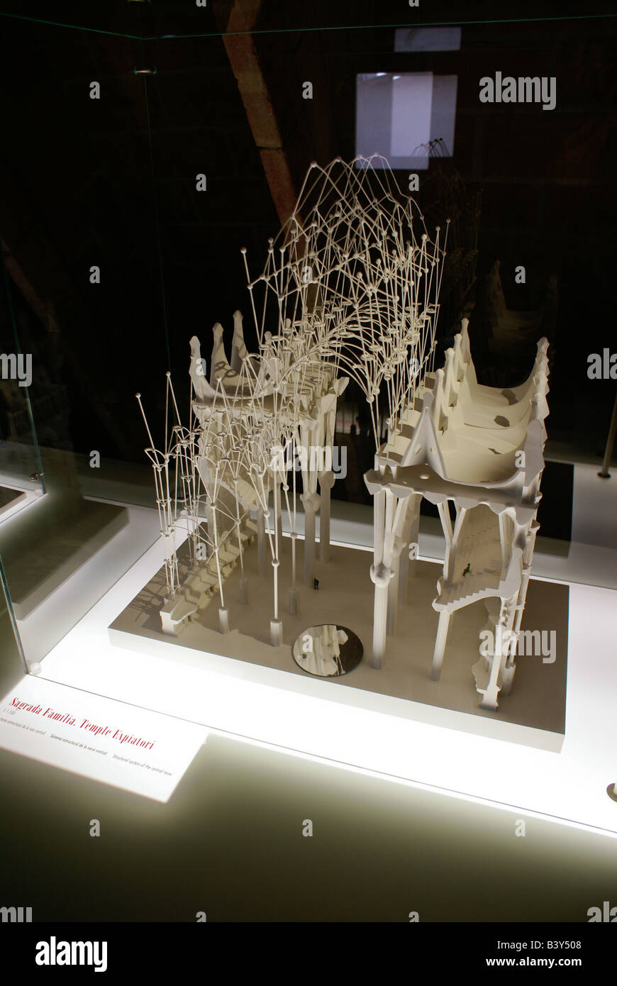 scale model from Sagrada Familia church, showing the structural elements supporting it - Stock Image