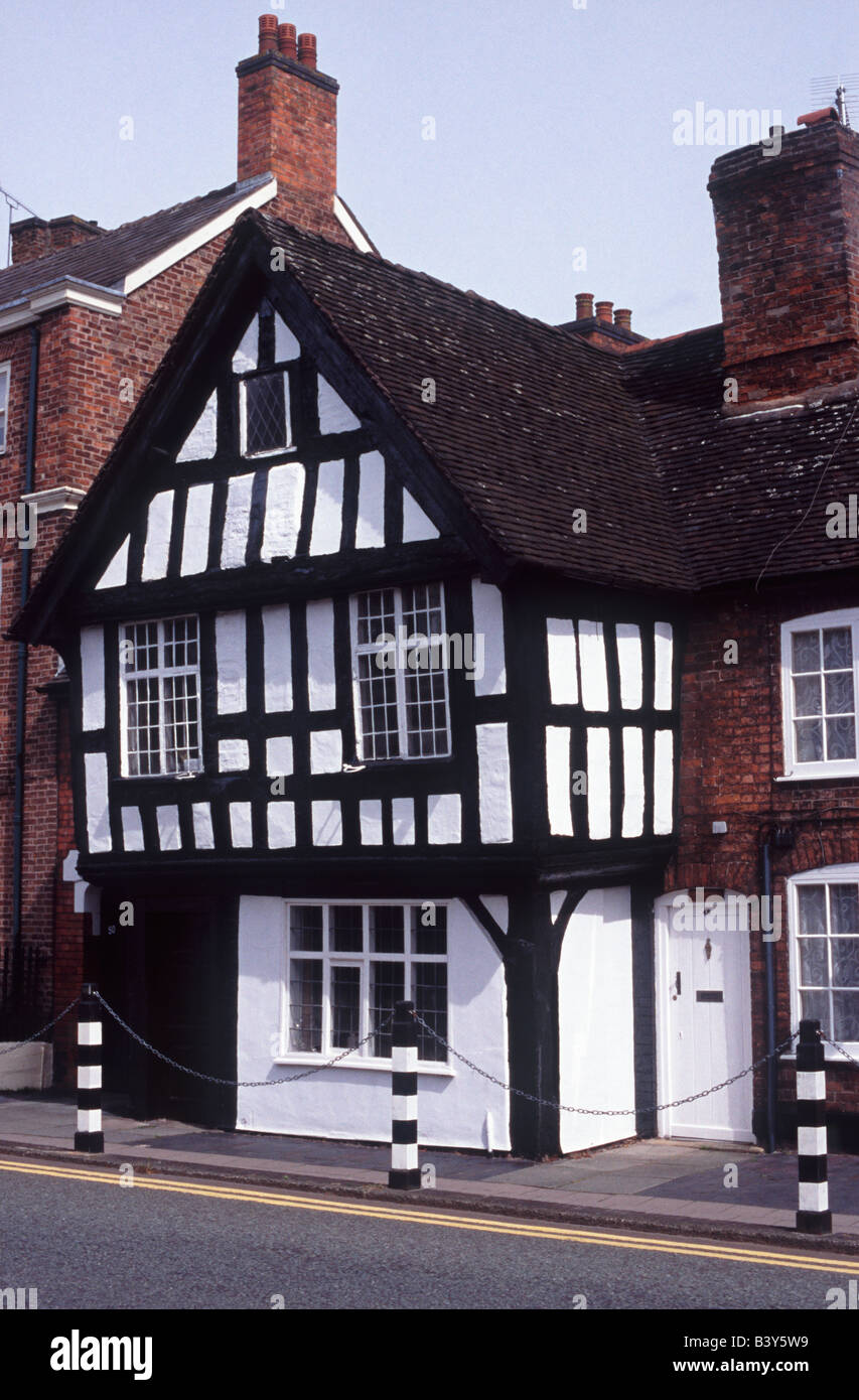 Black and white Tudor Cottage, Welsh Row, Nantwich, Cheshire, England, Great Britain, United Kingdom, Europe. Stock Photo