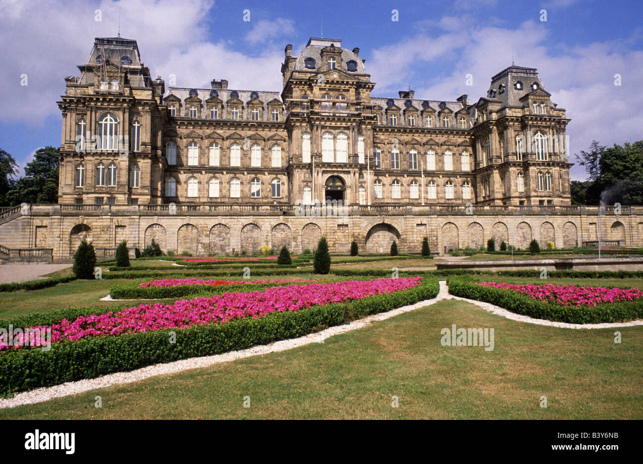 The Bowes Museum Castle Barnard County Durham England UK French chateau style building architecture - Stock Image